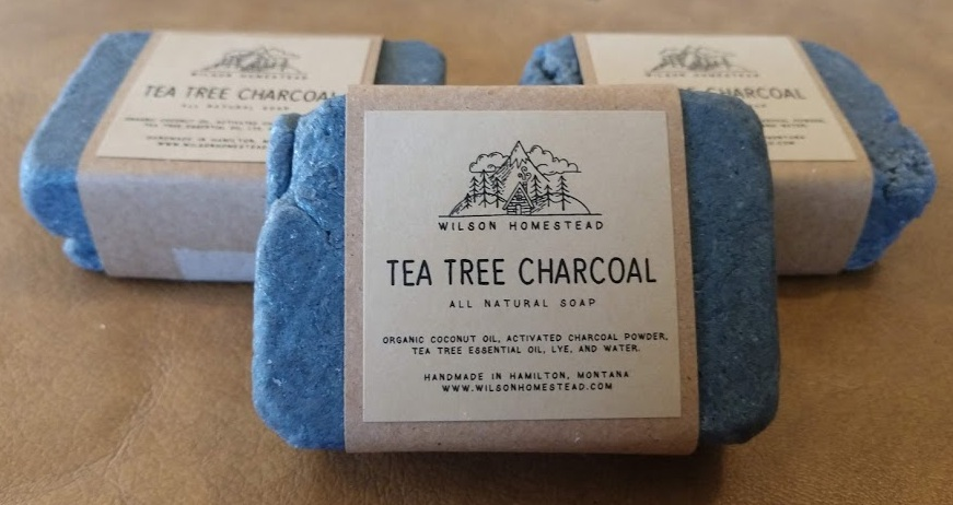 Wilson Homestead Tea Tree Charcoal Soap