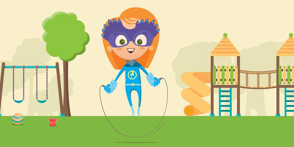 FÍSICO - El juego activo ayuda a los niños con la coordinación, el equilibrio, las habilidades motoras y el gasto de su energía natural que promueve mejores hábitos alimenticios y de dormir.