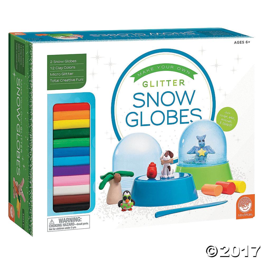 DIY Glitter Snow Globes