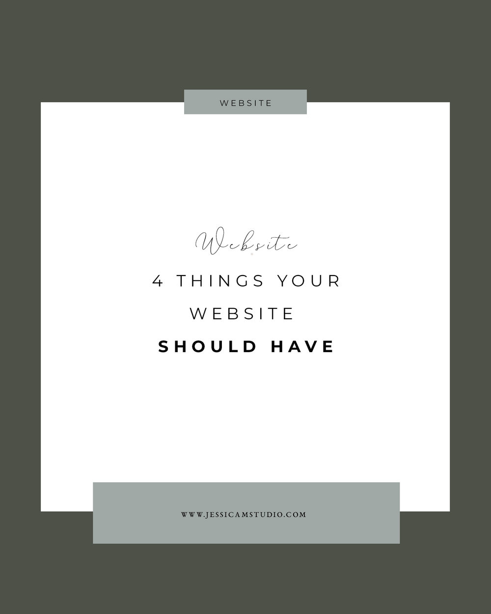 four things you website should have