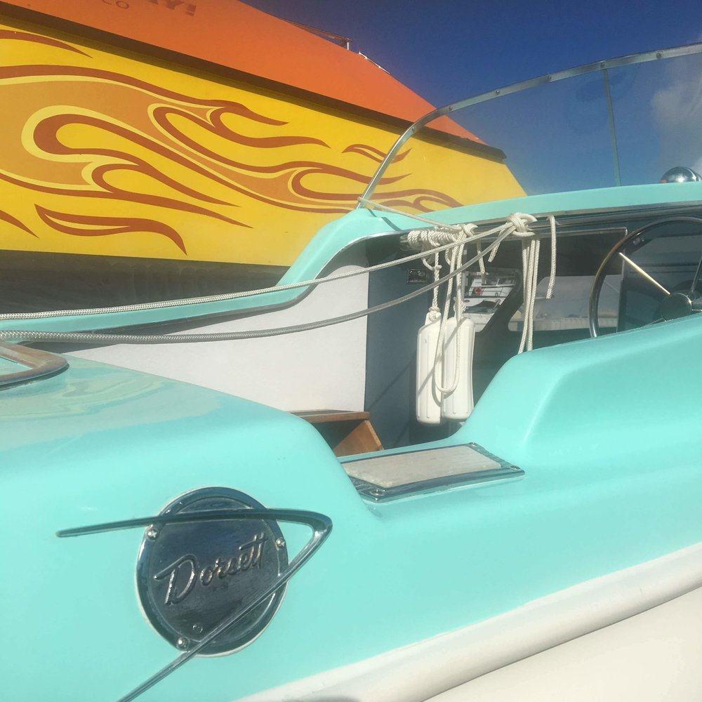 Repainting Johnny Boy - A complete re-painting of the exterior of this charming vessel.
