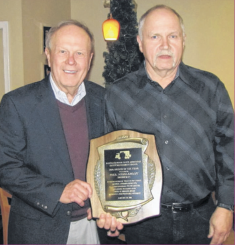 Joe Nesslerodt  Driver of The Year for the State of Maryland (award presented in 2017 by the Maryland Motor Truck Association)