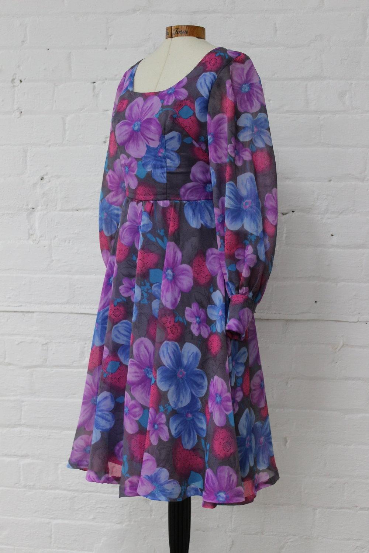 Purple Flower Power Dress