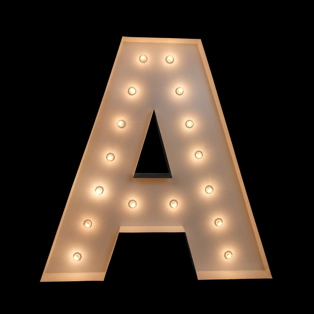 Wedding Letters - Light Up Letters Brisbane & Gold Coast