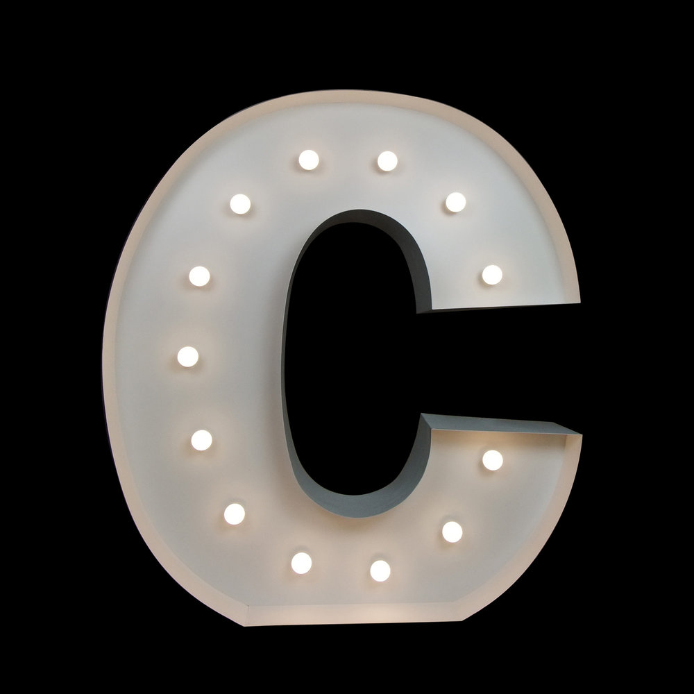 Giant Letters - C - Light Up Letters