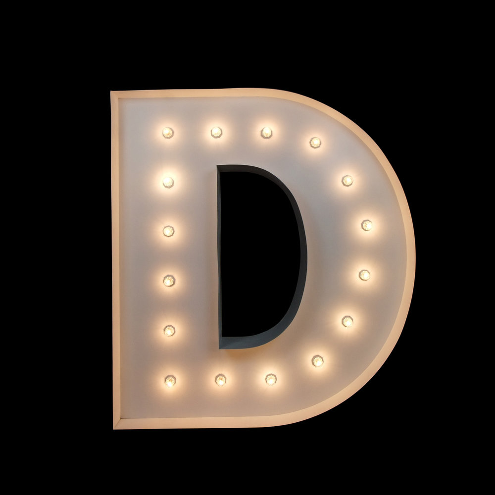 Giant Light up letter - D letter