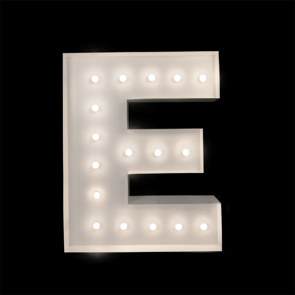 Light Up letter E - Letter light hire Brisbane