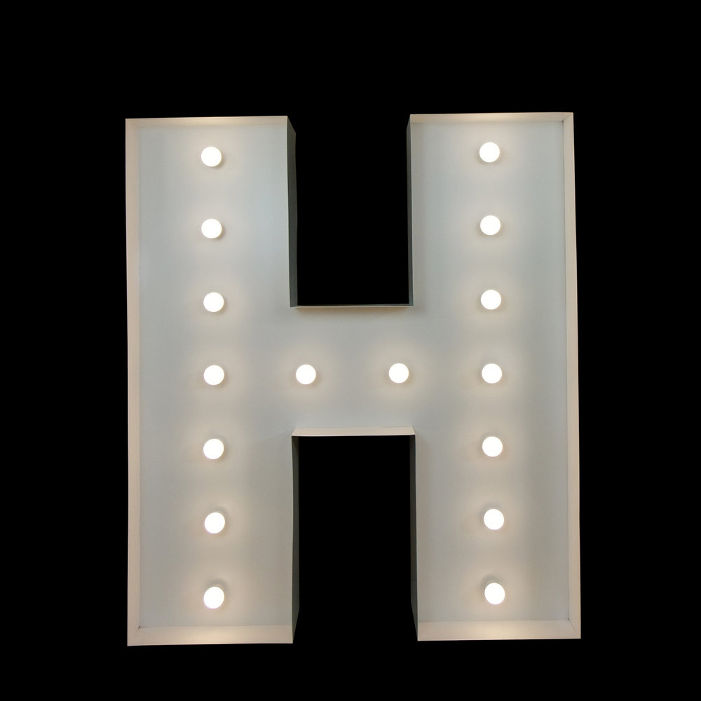 Big Letter Hire - Light Up Letter H