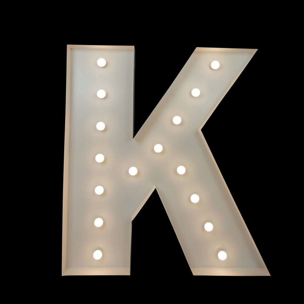 light up letter northern nsw - giant letter k
