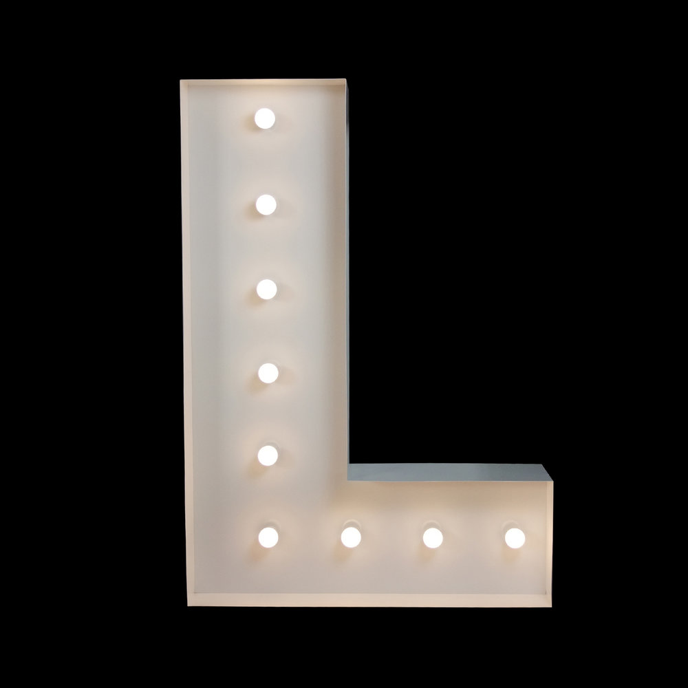 giant letters for hire - light up letters