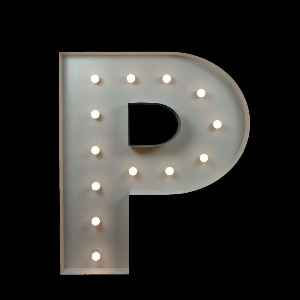 Light up P - Better letter hire gold coast