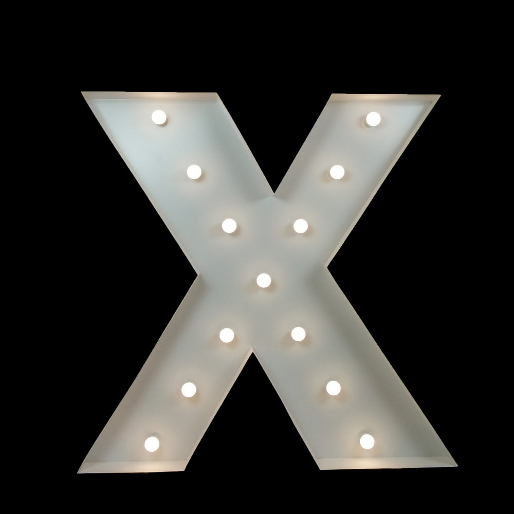Large Light Up letters for event hire