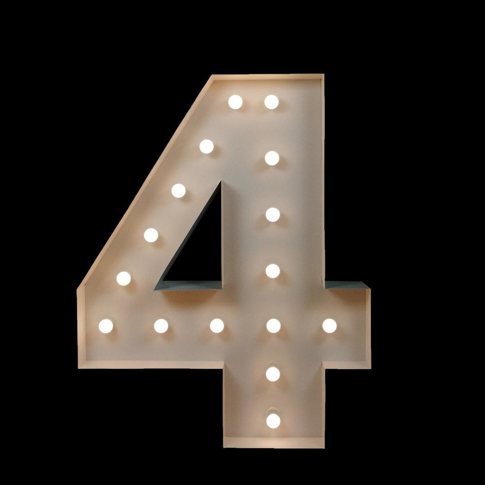Light UP Number 4 - Light Up letters
