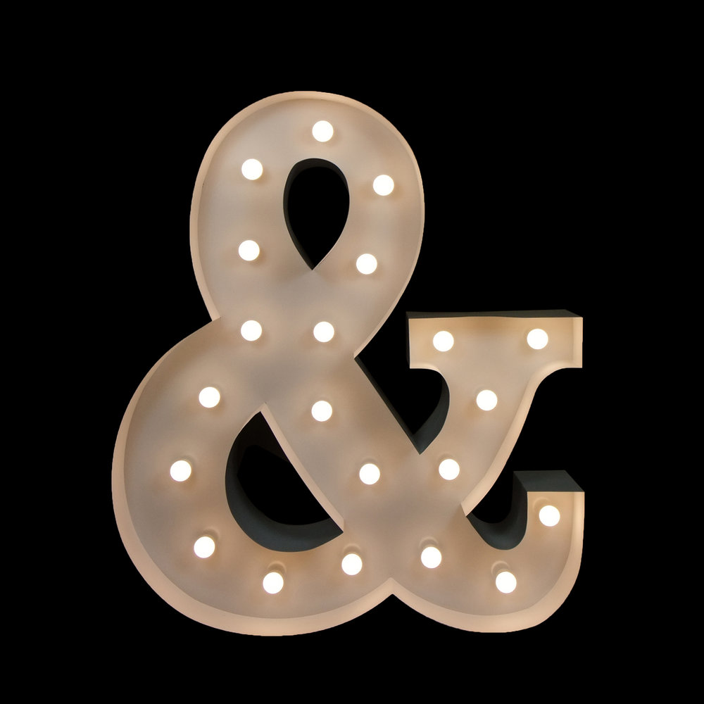 Hire light UP & Symbol - Light UP Letters