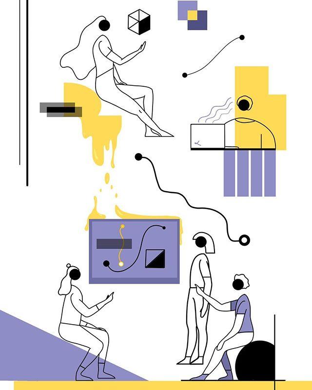 WIP - everything starts with a sketch, swipe to see it & progress video 👀 • #drawing🎨 #illustration #illustragram #digitalpainting #digitalillustration #photoshop #wip #sketching #digital #art #colours #minimalist #graphicdesign