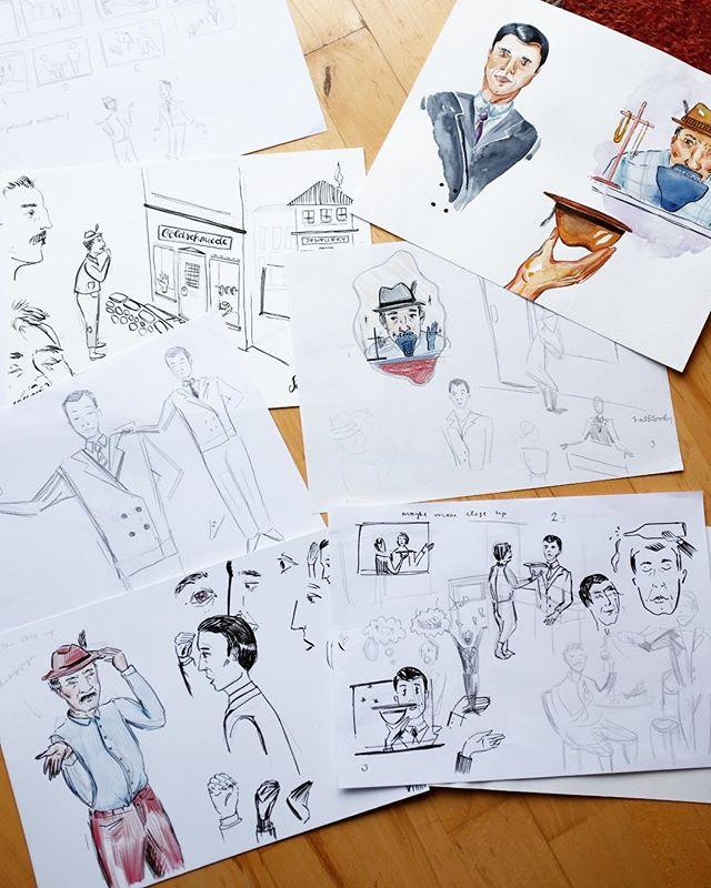 Concept sketches ✏️✏️ •  #illustration #illustragram #drawing🎨 #bookillustration #wip #workinprogress #pencildrawing #colourpencil #fabercastell #sketching #sketchbook #art #pencil #paper