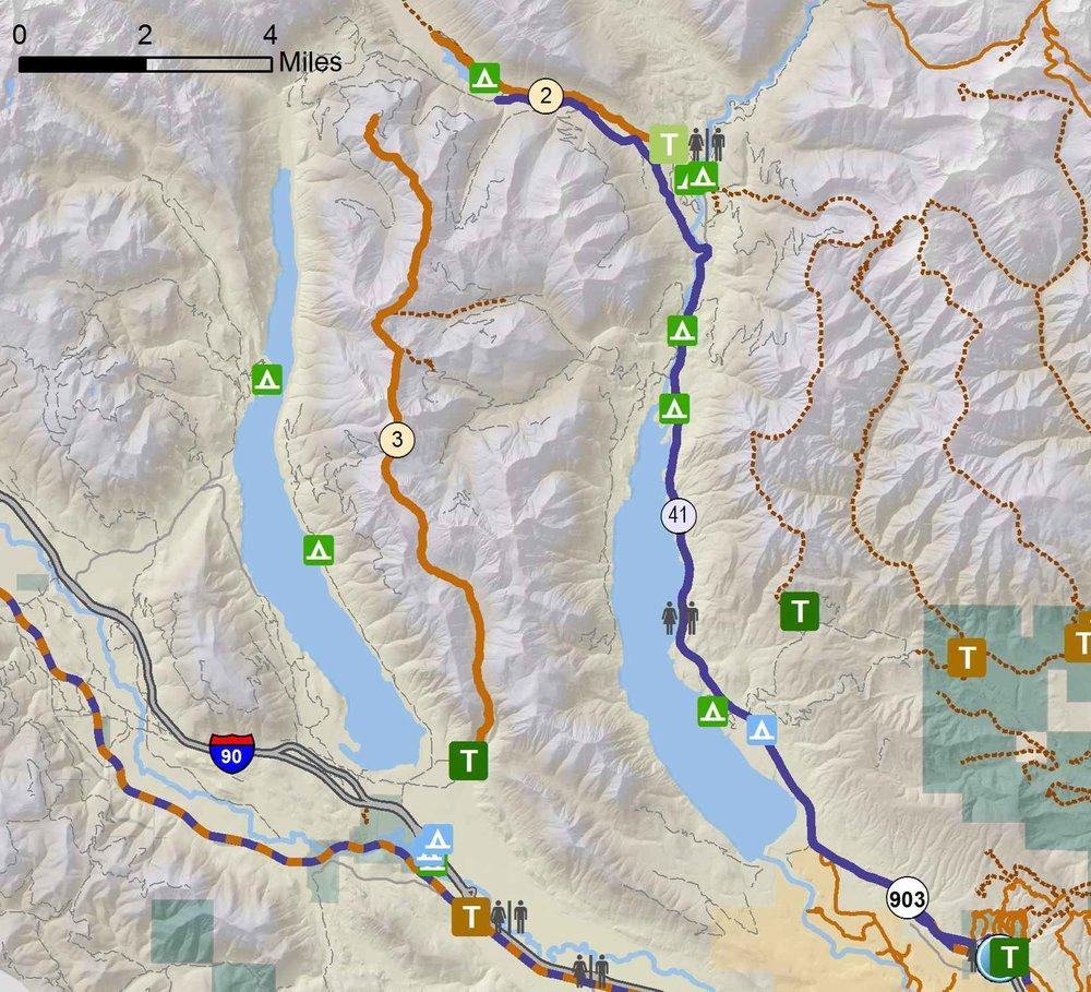 Bike Map Inset - Kachees/Cle Elum