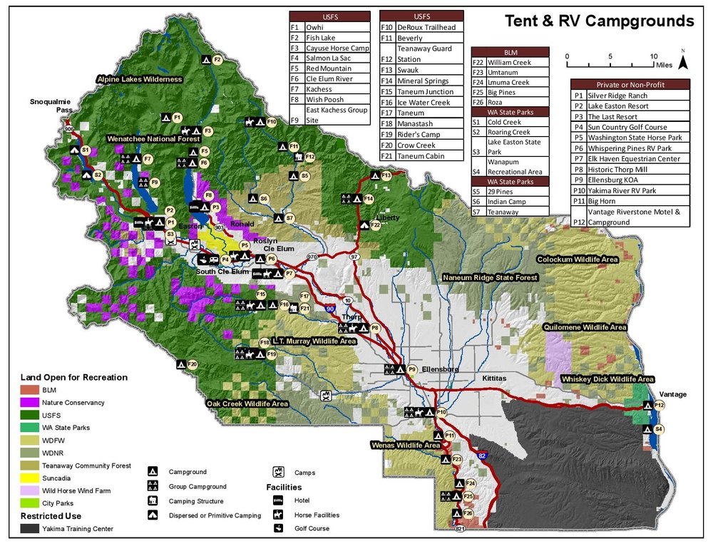 Kittitas County Recreation Study - Campgrounds