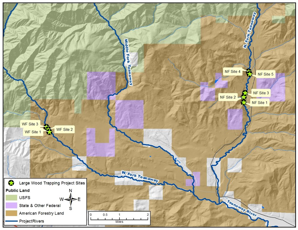 Washington Hometown creates maps for Mid-Columbia Fisheries, mixing data from our public lands and recreation data set with custom project data.