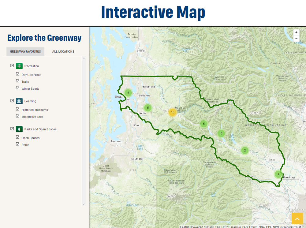 Mountains to Sound Greenway subscribes to our data, but they are also regular contributors adding information on projects that they are working on, and helping to coordinate new information from their partners.