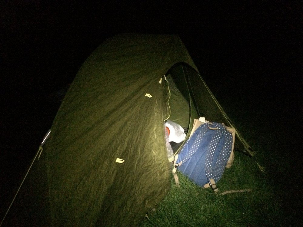 wild camping solo camp south downs