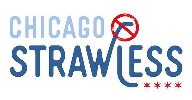 Skip the straw! Logo design for Chicago Strawless.