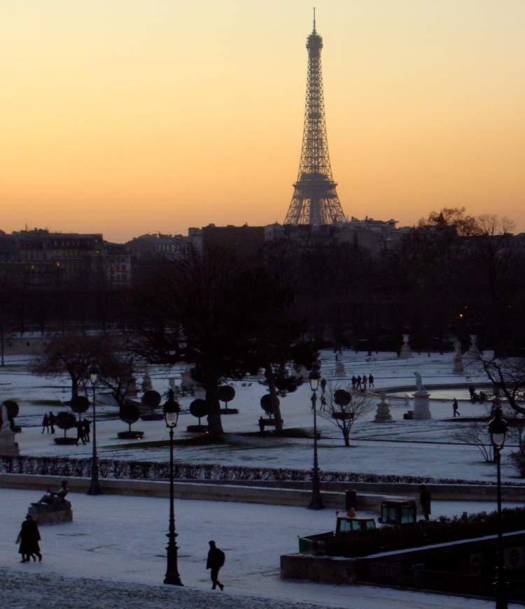 Paris is beautiful in winter, but it's not the season for a bike trip!