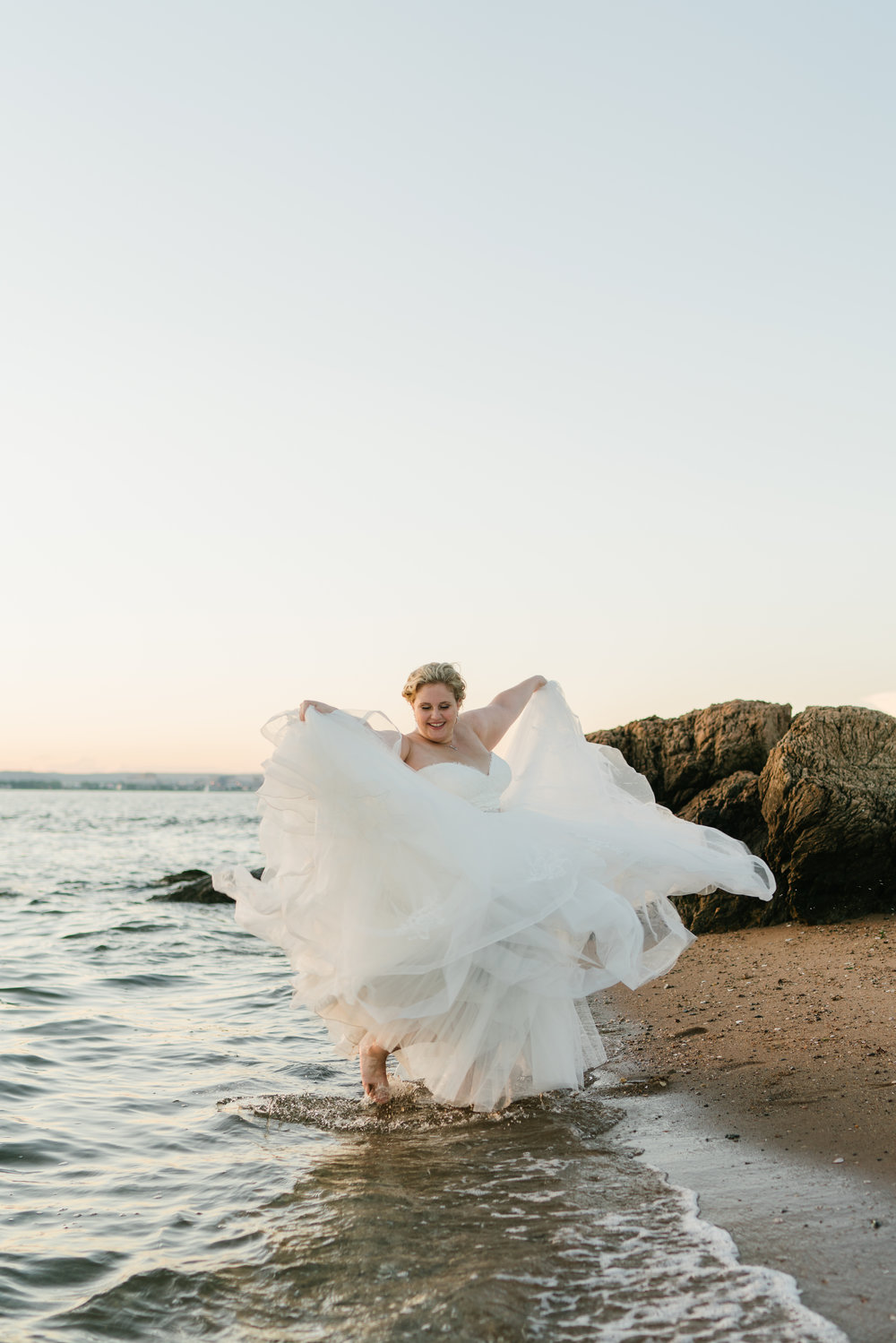 Connecticut wedding on the beach