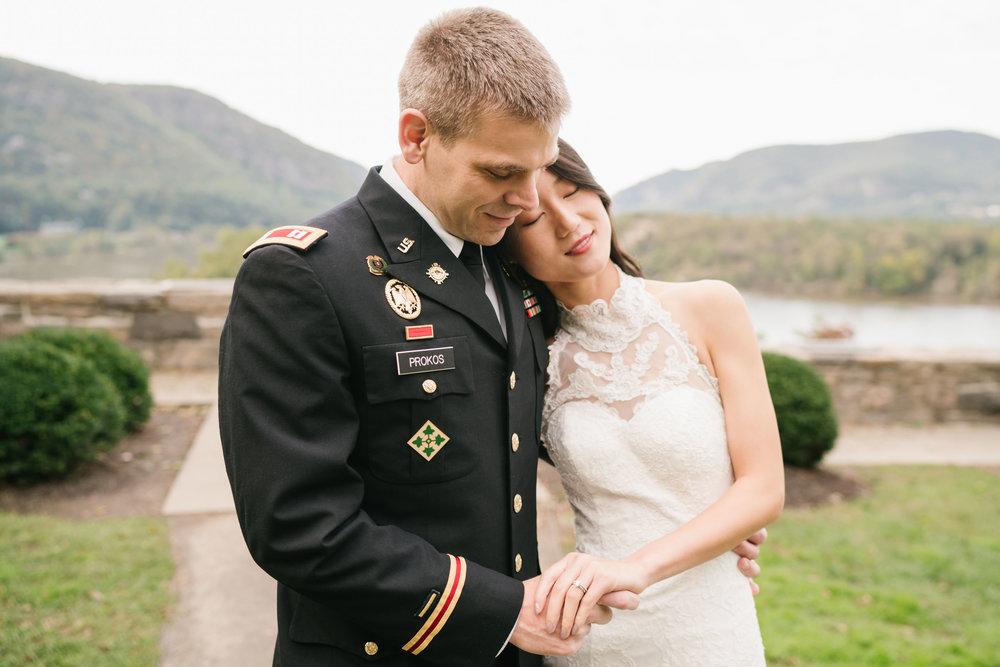 wedding on bear mountain west point military academy