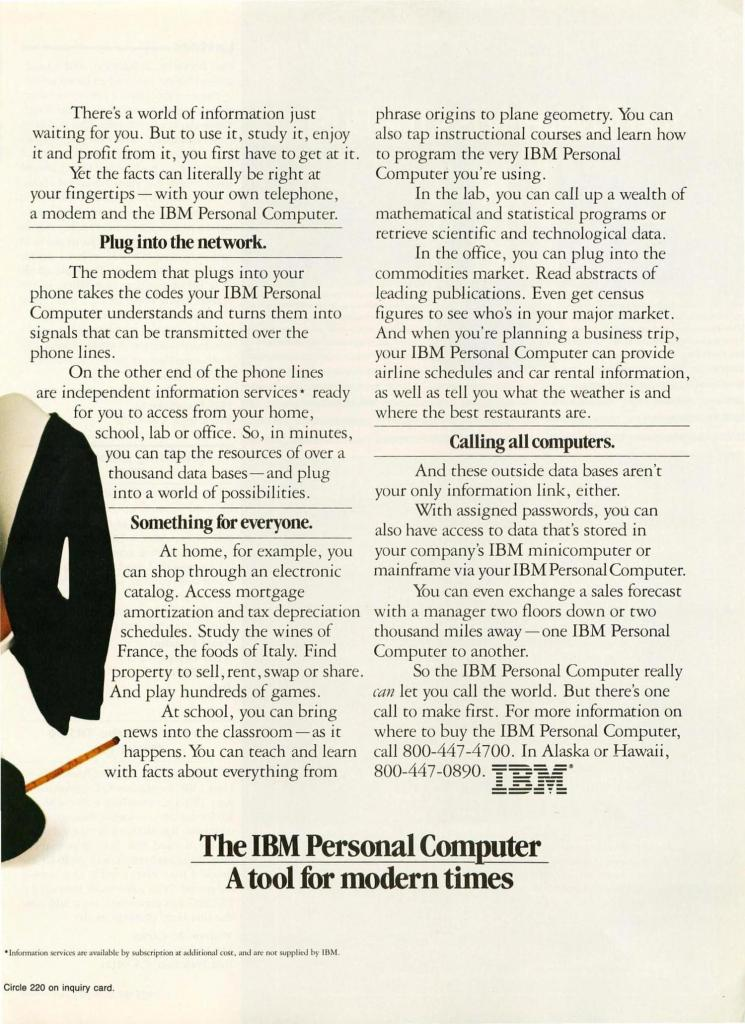 IBM promoted their new product, the IBM 5150, with the help of Charlie Chaplin