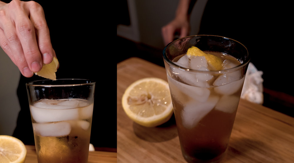 Finish off your vodka iced tea with a squeeze of fresh lemon and enjoy!