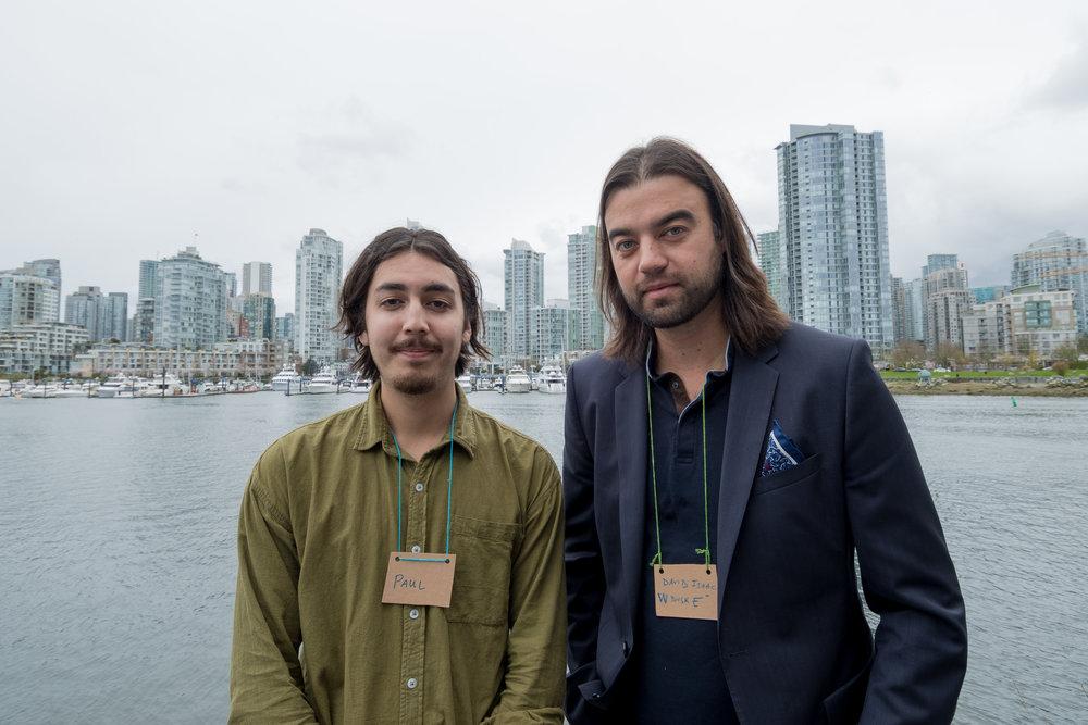 Paul and mentor David Isaac (Wugadusk) Photo: Ivan Belko Photography