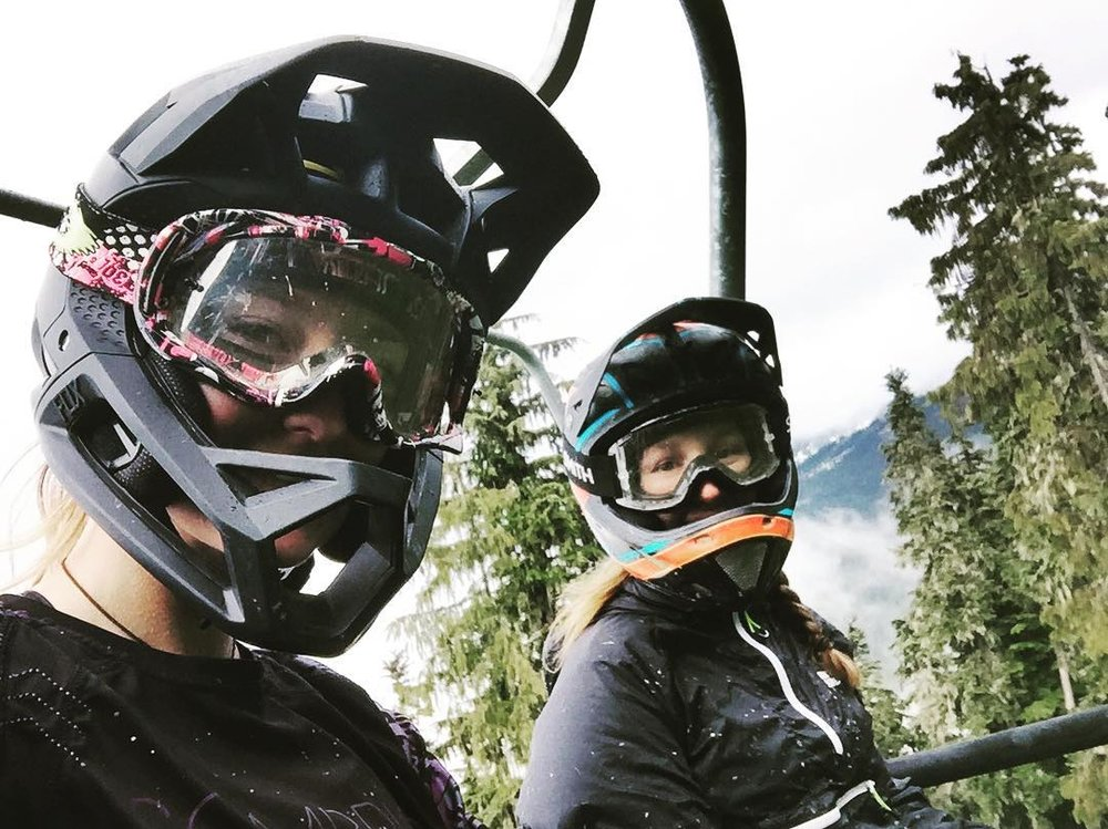 Anitra Paris, left, enjoying Whistler, where her reusable cup program is based this summer.  Photo: Anitra Paris