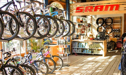 Garbanzo Bean & Bike: A one-stop-shops with bikes, gear and a new coffee cup program!  Photo: Whister Blackcomb