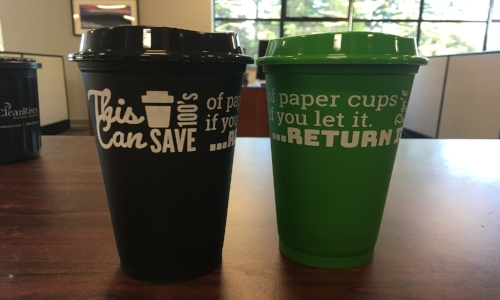 These will be used to pilot a reusable coffee cup program at Whistler Blackcomb. Photo: Anitra Patris