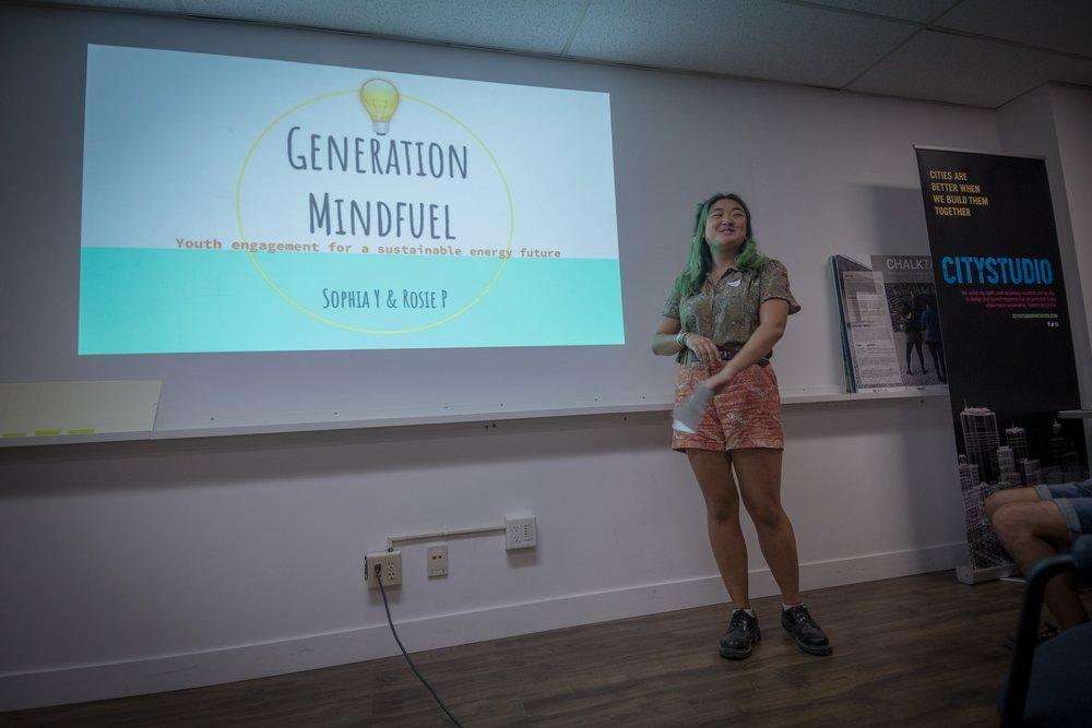 Sophia Yang presenting Generation Mindfuel. Photo: Ivan Belko.