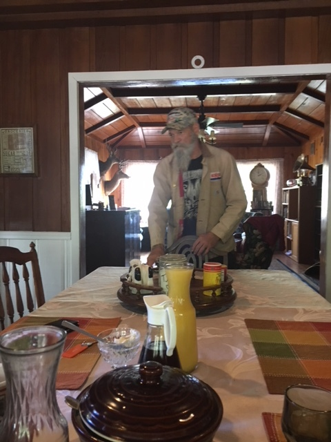 Eddy the caretaker making killer breakfast
