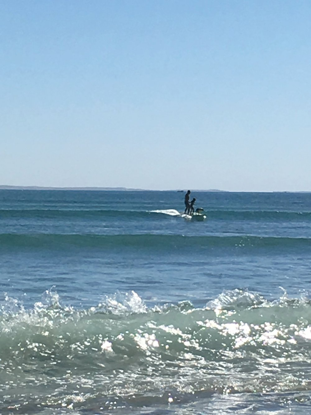 Surfing at Scorpion Bay