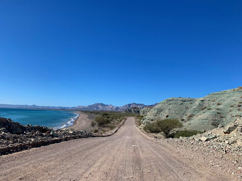 Endless and spectacular road along the coast