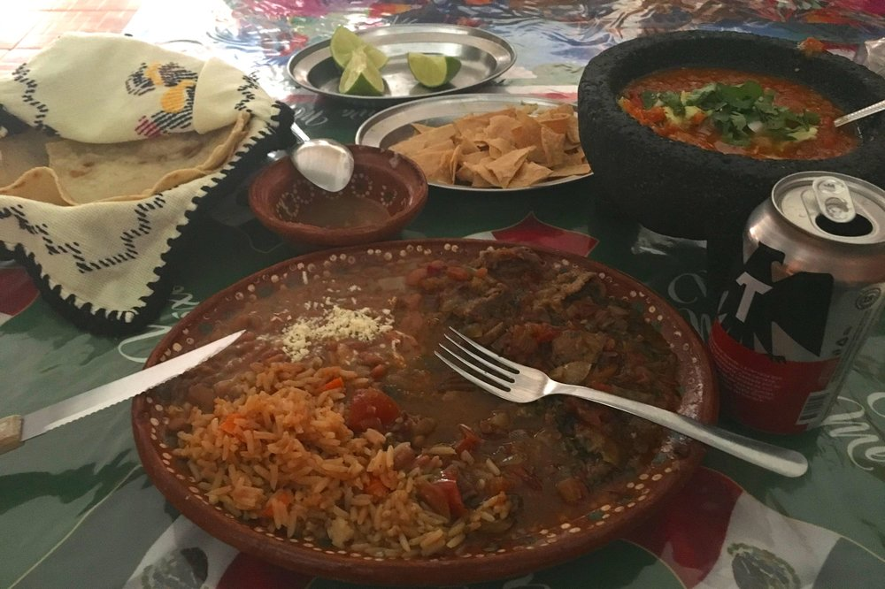 Delicious food at Los Gallos