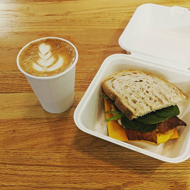 Open and ready to serve. Come in for a breakfast sandwich and a drink this morning! #tmocafe #eatlocal #coffeeshop #sandwichshop #dearborn #michigan