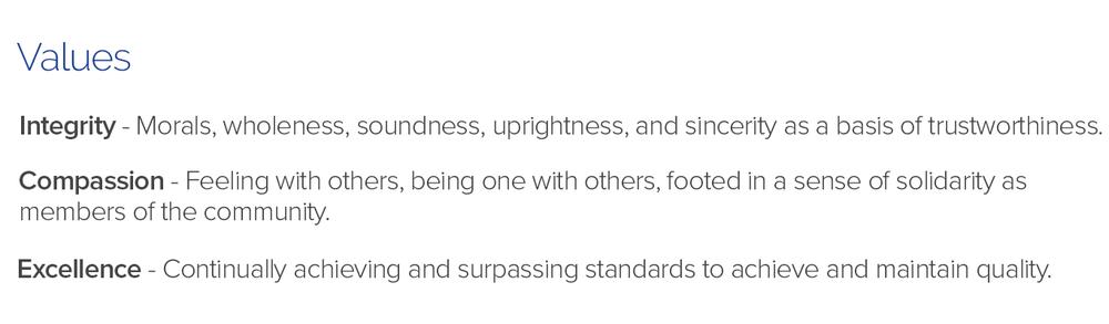 ISC company values