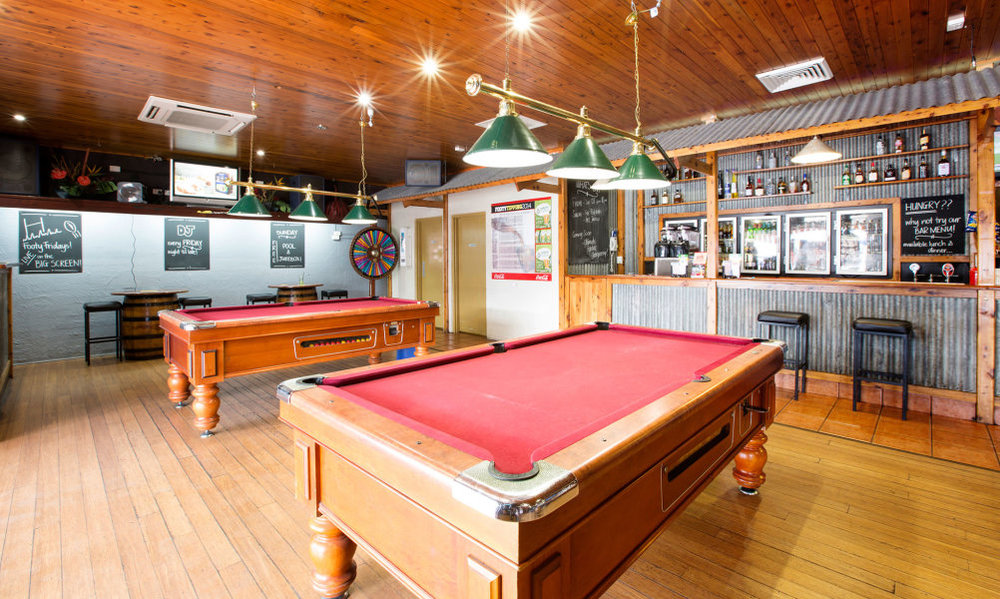 Pool tables available