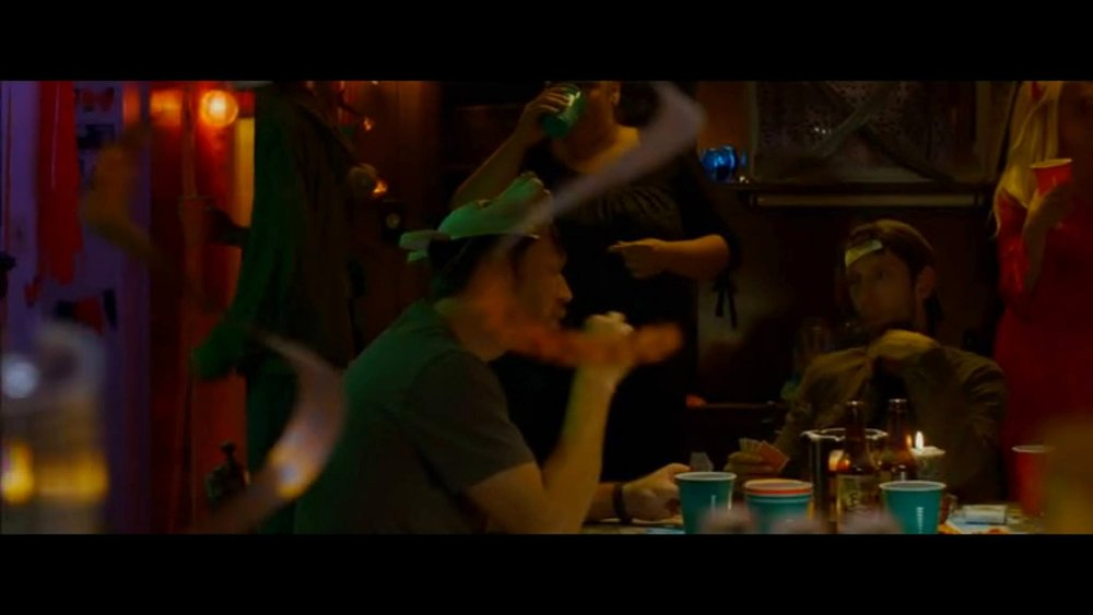 "My brief ""cameo"" in  The Guest  - playing poker with Joel David Moore (no relation)"