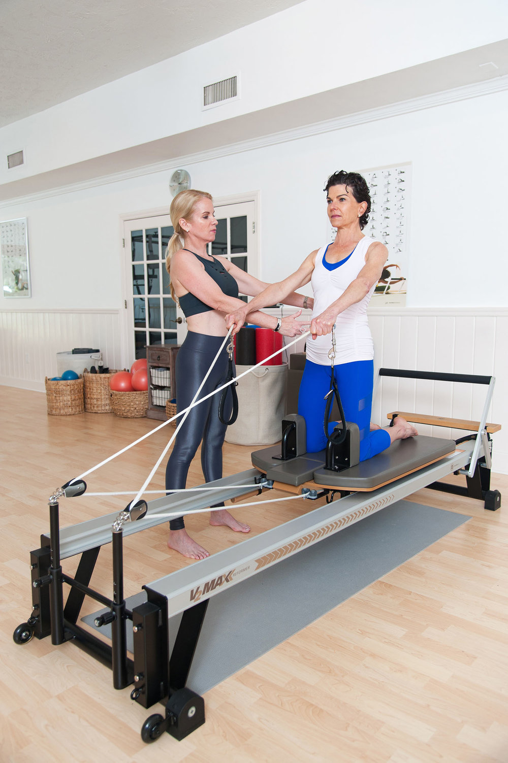 Private Pilates Sessions with Nina Desloge at her sarasota studio, Pilates Works of Sarasota.