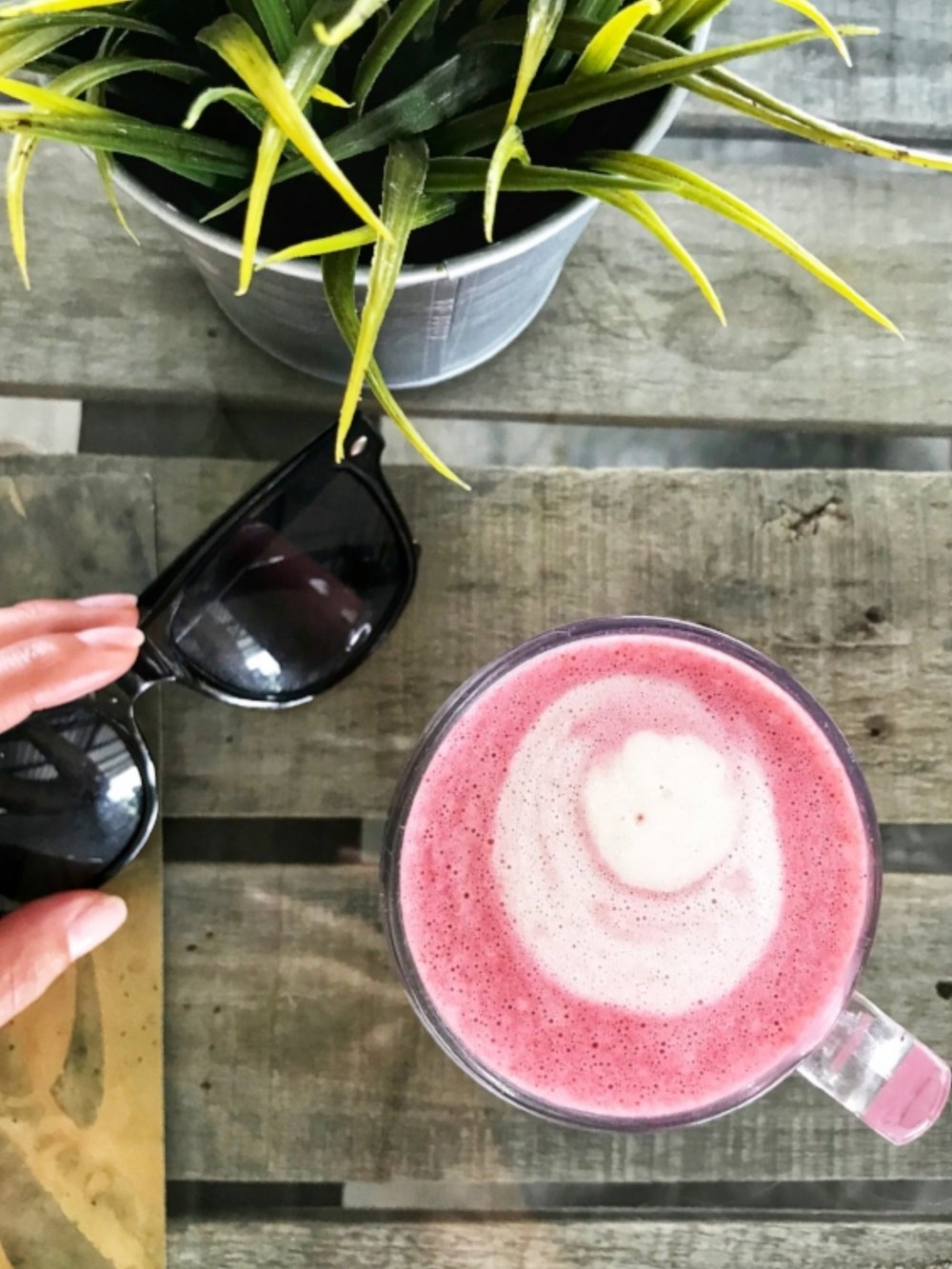 Vegan Beetroot Latte at Crate Cafe