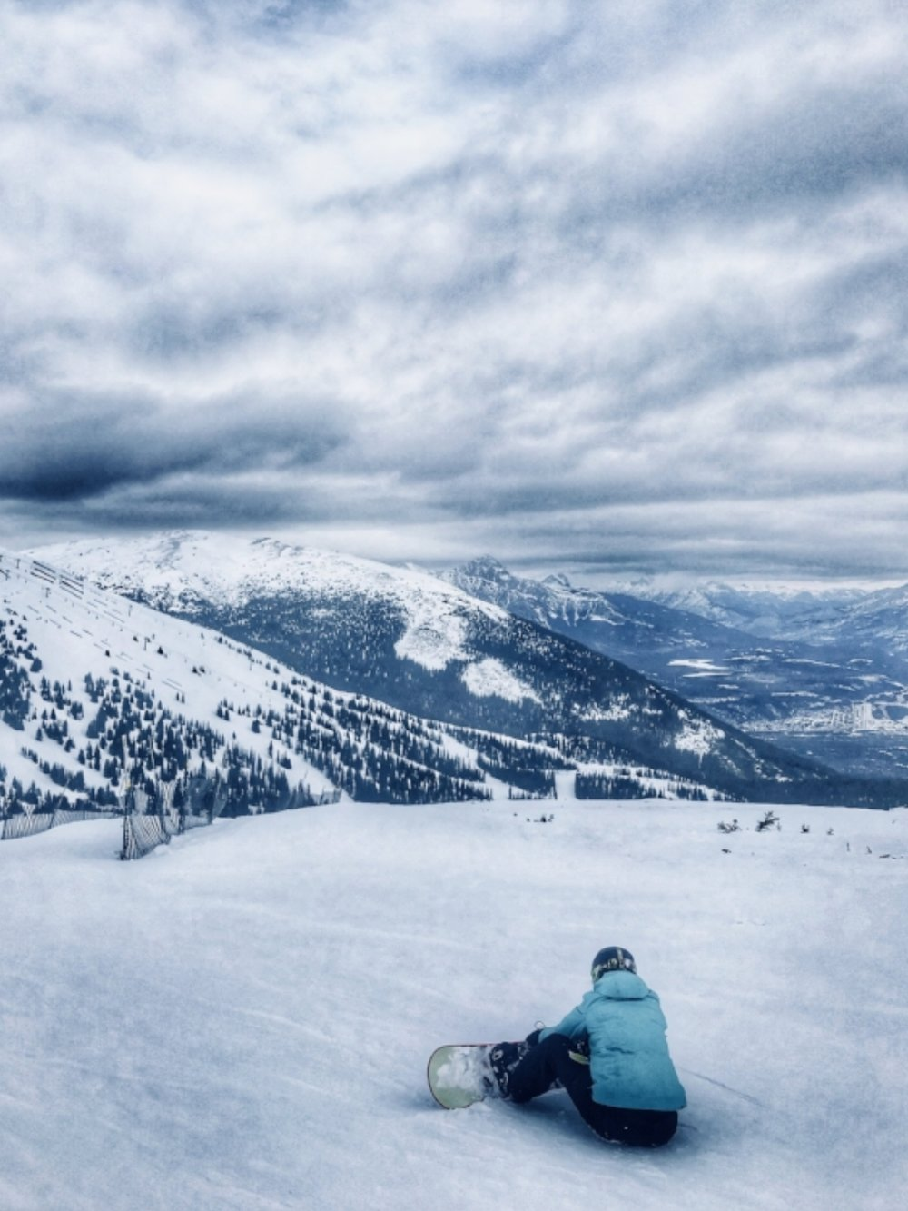 The incredible views while skiing at Marmot Basin