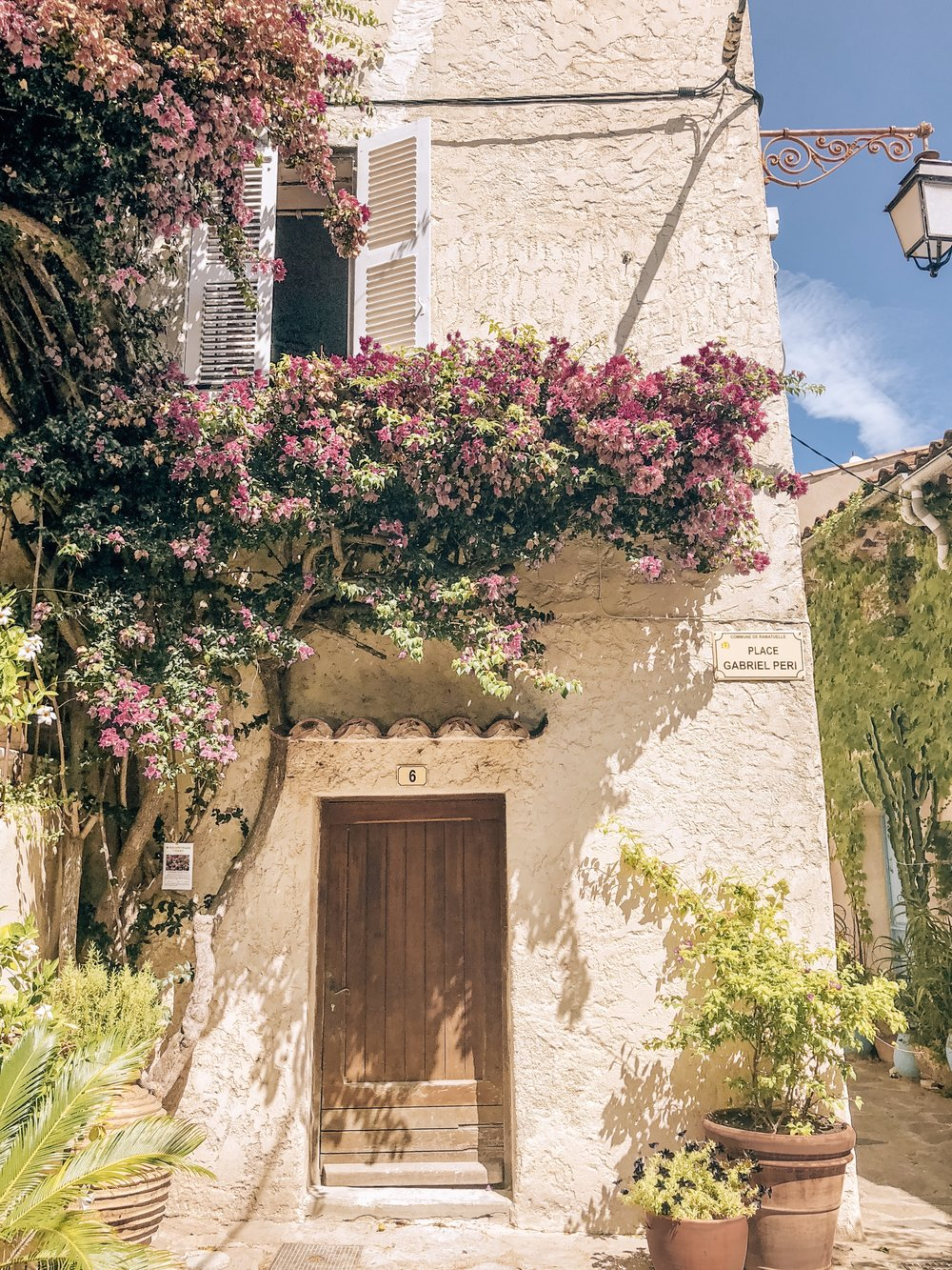 Beautiful flowers in small French village