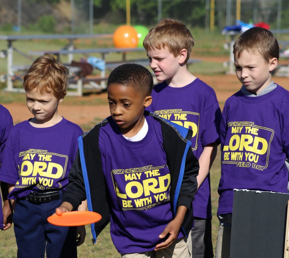 Field Day - Towards the end of each spring semester, the elementary students participate in fun, themed activities on Covenant's field. This is a fun day in the sun for students to play and enjoy the end of the school year. Middle school students also have a field day filled with games and activities at the end of the spring semester to kick up their heels after final exams.