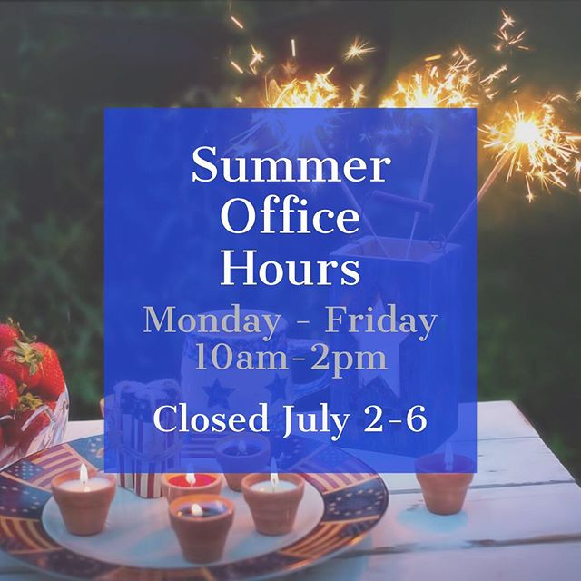 We're closed this week in observance of Independence Day. See in on Monday, July 9th!